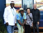 photo - At the première of Hear My Music at Labia Theatre in Cape Town on Feb. 15, are, left to right, Ntandazo (Didi) Gcingca, associate producer, and Dizu Plaatjies, the documentary's subject, with Wendy Bross Stuart and Ron Stuart of WRS Productions