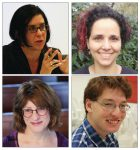 photo - The April 9 panel discussion Israel, Canada and Me in the Age of Trump will feature, clockwise from top left, Dr. Shayna Plaut, Ofira Roll, Rabbi Susan Shamash and Eviatar Bach