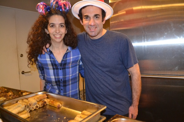 photo - Café 41 put on a fabulous Argentine-style Purim dinner that was well-attended by members of the community March 12. Yamila Chikiar and Daniel Presman (pictured) own the café with Menajem Peretz