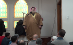 screenshot - Sheikh Muhammad bin Musa Al Nasr is captured in a YouTube video dated Dec. 23, 2016, addressing a prayer meeting at Dar Al-Arqam in Montreal East