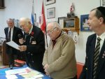 photo - Left to right: John Collier, Ralph Jackson (president), Alan Tapper (first vice-president) and Marc Perl (second vice-president) at Royal Canadian Legion Shalom Branch 178's January general meeting