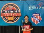 photo - Estee Ackerman wins gold at the 2016 Junior Olympics in Houston