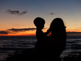 photo - Hawaii - mother and son