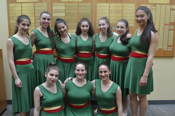 photo - The Or Chadash dancers who participated in Festival Ha'Rikud on May 14