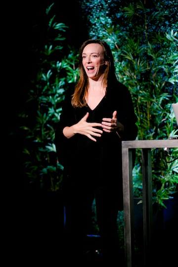 photo - Kiva founder Jessica Jackley speaks at the 13th Annual JFSA Innovators Lunch on May 2