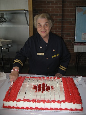 photo - Marianne Ferguson volunteered at Pier 21 when it was an immigration facility and again when it reopened as a museum