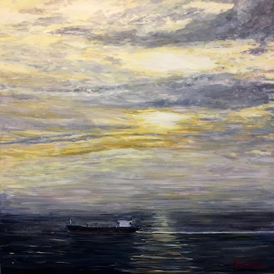 "photo - ""Golden Hour,"" acrylic on canvas, by Michael Abelman, one of several Jewish artists whose work is part of Art! Vancouver, which runs May 25-28"