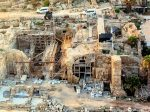 photo - An aerial view of part of the Caesarea excavations