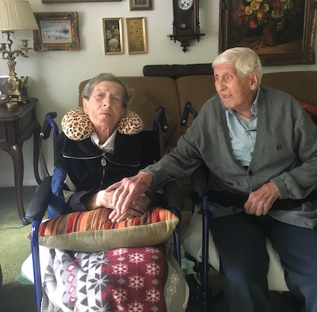photo - Writer Eliezer Sobel's parents, Manya and Max, in 2016. They were the inspiration for Sobel's series of picture books for readers with dementia
