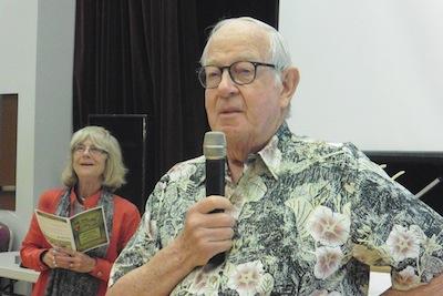 photo - Jewish Seniors Alliance first vice-president Gyda Chud, left, president Ken Levitt at the JSA's Ask the Doctors forum on May 7