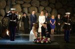 photo - U.S. President Donald Trump and First Lady Melania Trump lay a wreath during a visit to Yad Vashem, the World Holocaust Remembrance Centre, on May 23