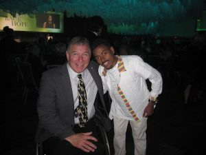photo - Rick Hansen, left, and Tesfaye Anagaw