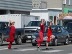 photo - LINK Dance Foundation will perform Why did the Chicken Cross the Road? at a few intersections in Vancouver during Dancing on the Edge