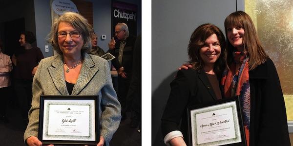 photos - Gisi Levitt, andAnna-Mae Wiesenthal, left, and VHEC education director Ilona Shulman Spaar