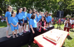 photo - The Hon. Jody Wilson-Raybould, minister of justice and attorney general of Canada (MP for Vancouver Granville), at the Canada Day celebration in Douglas Park, which is in JI publisher Cynthia Ramsay's neighbourhood