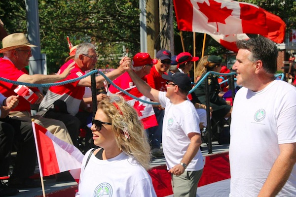 photo - The JI's Pat Johnson, right, helped represent the Regional Animal Protection Society in the Steveston Salmon Festival Parade on Canada Day