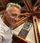 photo - Jeff Buller at the induction ceremony for his father, the late Hy Buller, into the International Jewish Sports Hall of Fame in Netanya, Israel