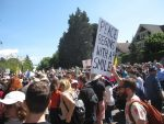 photo - An estimated 4,000 to 5,000 people showed up at Vancouver City Hall Aug. 19 to protest a planned racist rally