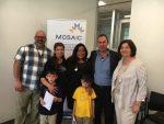 photo - From left to right: Rabbi Dan Moskovitz, Meha Qewas, the Hon. Jody Wilson-Raybould, Hesen Mostefa, Brenda Karp and two of the Mostefas' children