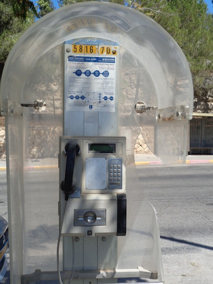 photo - There are a few remaining payphones in Israel