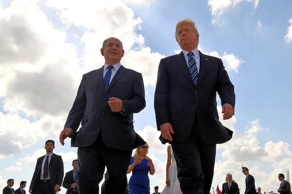 photo - May 23, 2017. U.S. President Donald Trump, seen here with Prime Minister Binyamin Netanyahu, made Israel one of the first overseas countries he visited since becoming president