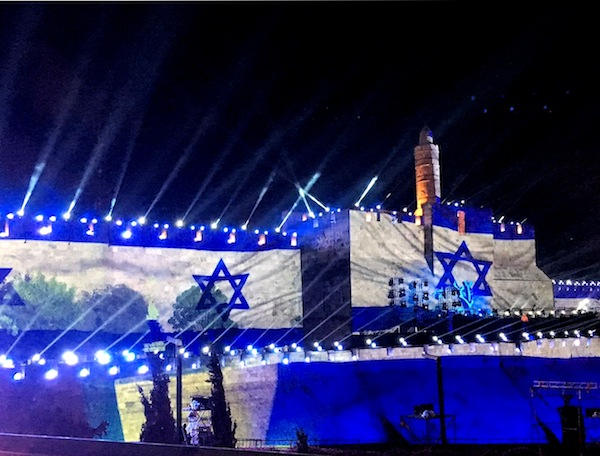 photo - May 2017. On May 20, Jerusalem was illuminated to celebrate the 50th year of the city's reunification following the Six Day War