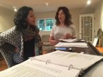 """photo - Advah Soudack and Anna-Mae Wiesenthal rehearse the song """"Building a Dream"""" for Two Views from the Sylvia, which runs Nov. 8-12"""