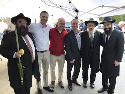 photo - Rabbi Yechiel Baitelman, Michael Sachs, Jewish Federation of Greater Vancouver head Ezra Shanken, Mike Bernier, Rabbi Avraham Feigelstock and chief executive officer Rabbi Levi Varnai