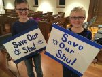 photo - Nolan Hupp and Annika Hupp play two schoolchildren who protest to save the shul in The Original Deed