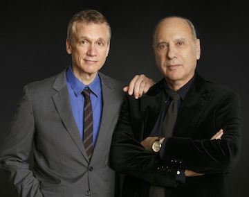 photo - Rick Elice, left, and Marshall Brickman, co-book writers of Jersey Boys