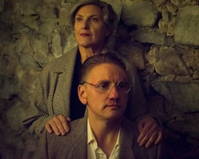 photo - Irmgaard Litten (played by Suzanne Ristic) tries everything to save her son Hans (Sean Anthony) from the Nazis in Taken at Midnight