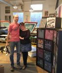 photo - Norbert Mantik and Rebekah McGurran of the Hive Printing