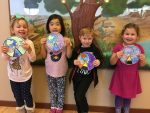 photo - Students in Kitah Aleph at the White Rock / South Surrey Jewish Community Centre with their Bereishit (Genesis) craft that they completed after studying the parashah at the centre's religious school