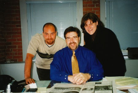 photo - Kyle Berger, left, Pat Johnson and Cynthia Ramsay, in 1999