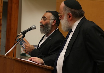 photo - Rabbi Simon Jacobson, right, with Rabbi Shmulik Yeshayahu