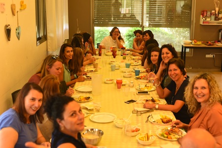 photo - Lunchtime in one of the residential houses at Beit Ruth Village