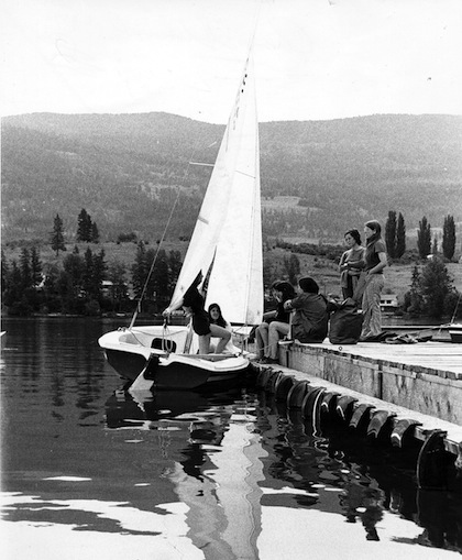 photo - Camp Hatikvah, 1972. Sailing was one of the writer's favourite camp activities