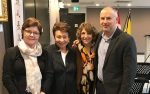 photo - Left to right: Linda Thomas (Tikva), Shirley Barnett, Shelley Karrel (Tikva) and Eldad Goldfarb (Jewish Community Centre of Greater Vancouver) at Tikva Housing's annual general meeting on Dec. 7