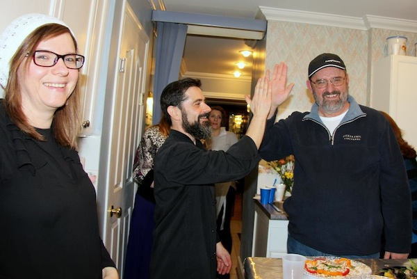 "photo - ""The competition this year was taken to a whole new level,"" said Rabbi Nuta Yisroel Shurack, who is one part of The Rabbi and the Chef, with chef Marat Dreyshner"