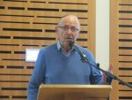 photo - Holocaust survivor David Ehrlich speaks on Jan. 25