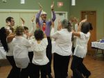 photo - Steven Finkleman, vice-president of the Okanagan Jewish Community, takes a moment to enjoy some Israeli dancing