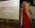 photo - Rebecca Fannin, founder of Silicon Dragon, at the event in Tel Aviv on Jan. 29