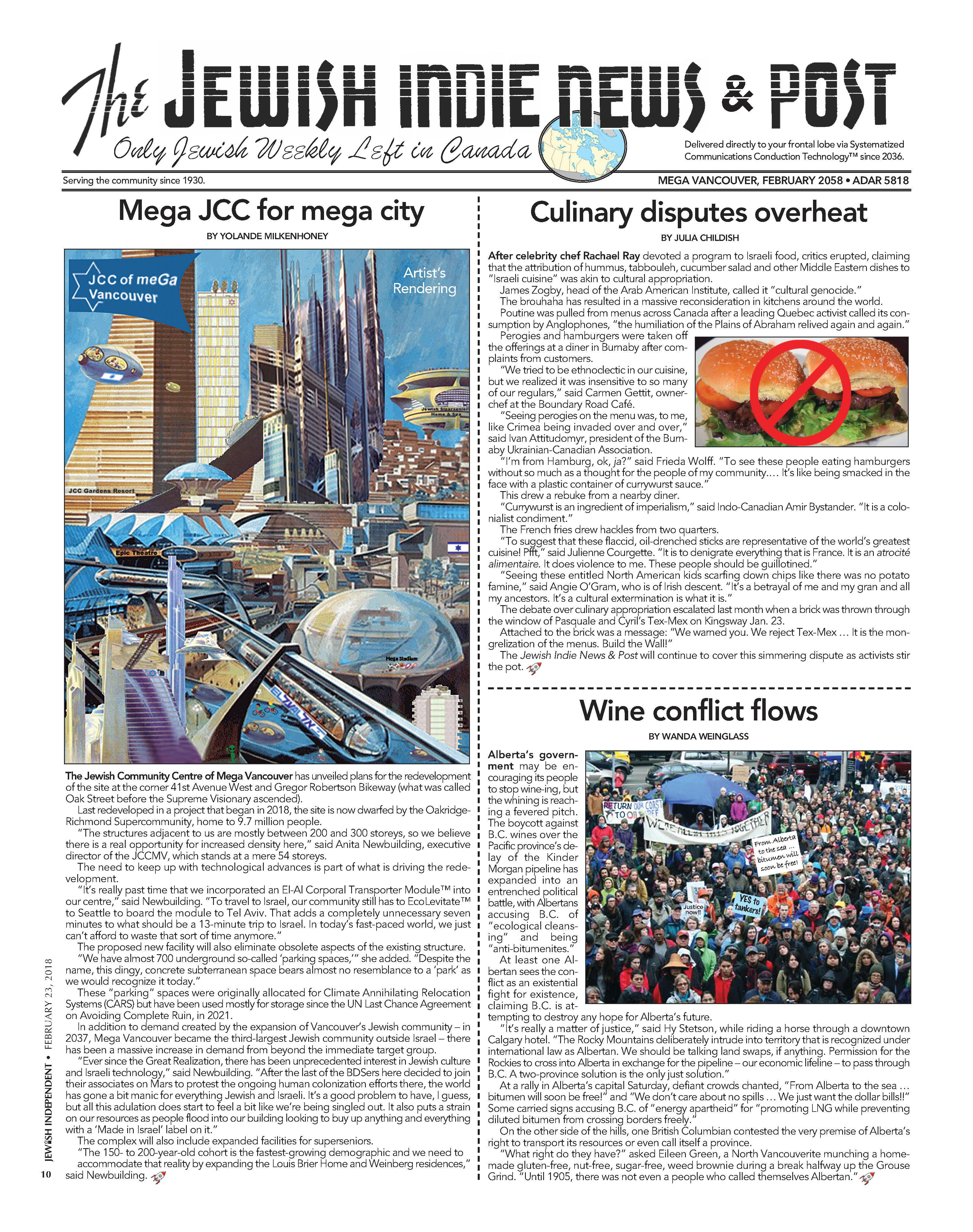 Purim spoof newspaper - Jewish Indie News & Post