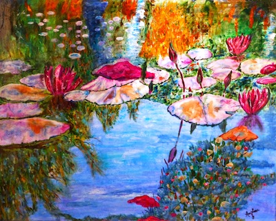 """image - The Zack Gallery show includes the piece """"Libretto of the Lilies"""""""