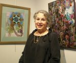 photo - Ava Lee Millman Fisher at the opening of her solo exhibit, I See Music, on March 1