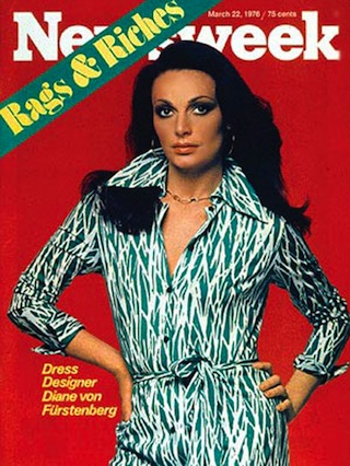 image - Diane von Furstenberg made the cover of Newsweek, among other publications, in 1976