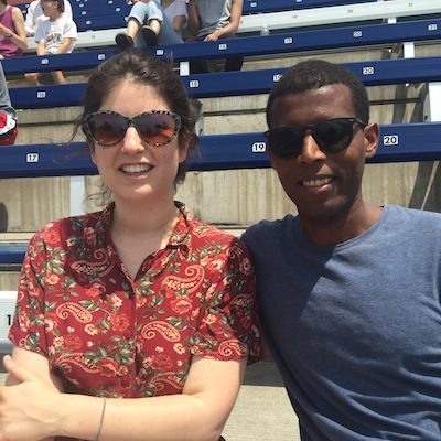 photo - Samara Carroll and Dawit Demoz