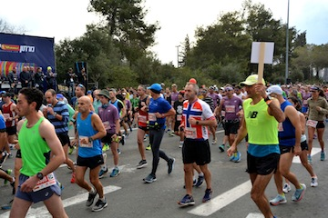 photo - The half-marathon gets underway