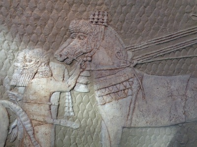 photo - A copy of panels depicting the Assyrian destruction of Lachish, part of Israel Museum's archeology collection. The original panels date to the Late Iron Age, First Temple Period, 1000-586 BCE, and are housed at the British Museum