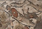 photo - In 2016, under the supervision of Prof. Jodi Magness of the University of North Carolina at Chapel Hill, archeologists excavating at the fifth-century CE Huqoq synagogue found a mosaic floor on which there is an image of an Egyptian soldier and his horse floundering in the Red Sea